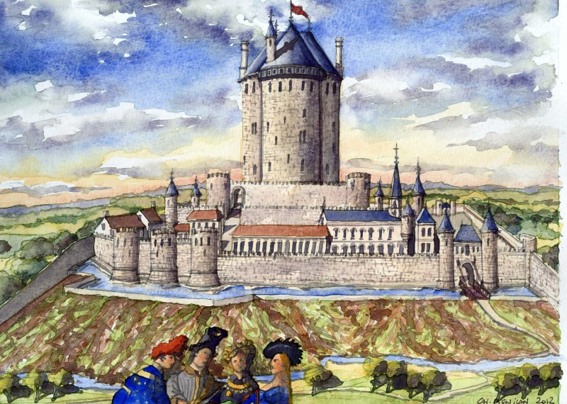 Essonne du xvi me au xix me for Chateau etampes